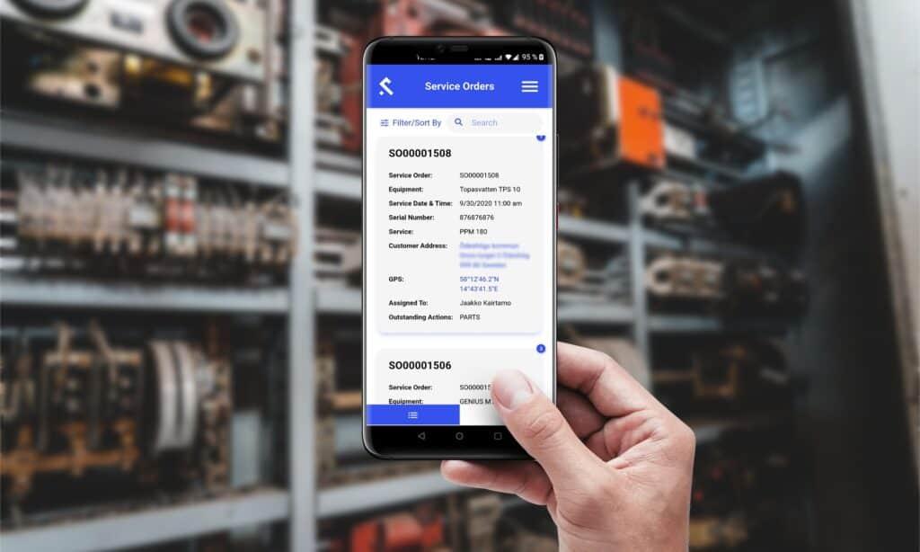Shepherd CMMS - Mobile app screenshot of service order